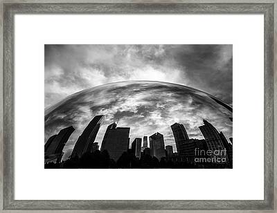 Cloud Gate Chicago Bean Framed Print
