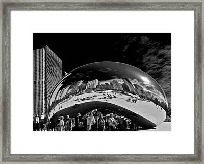 Cloud Gate Chicago - The Bean Framed Print by Christine Till