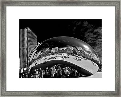 Cloud Gate Chicago - The Bean Framed Print