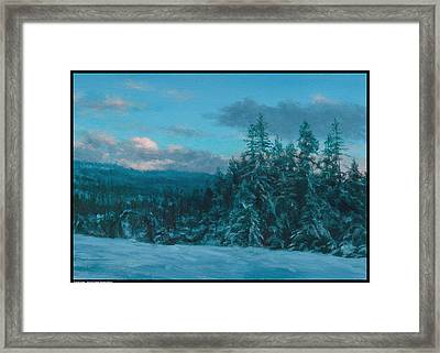 Cloud Glow Framed Print by Diana Moses Botkin