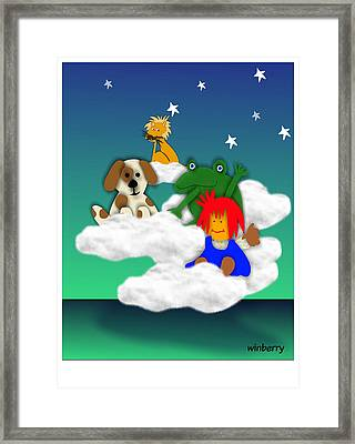 Cloud Kids Framed Print by Bob Winberry