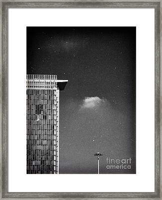 Framed Print featuring the photograph Cloud Lamp Building by Silvia Ganora