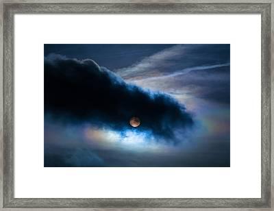Moon-like Sun Sky Framed Print