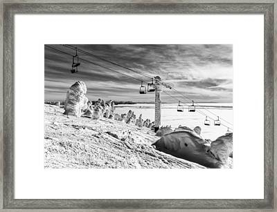 Cloud Lift Framed Print by Aaron Aldrich