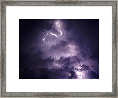 Cloud Lightning Framed Print by James Peterson