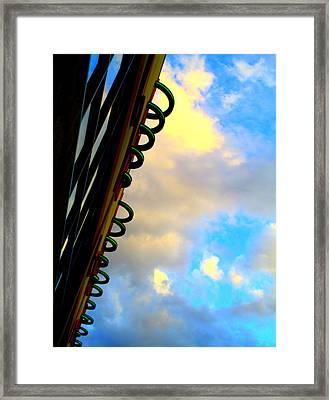 Cloud Loops Framed Print