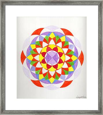 Cloud Mandala Framed Print by Silvia Justo Fernandez
