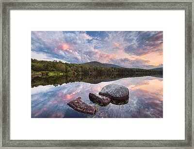 Cloud Mirror Framed Print by Michael Blanchette