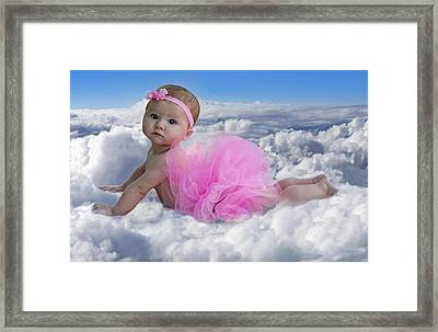 Cloud Nine Framed Print by Mamie Thornbrue