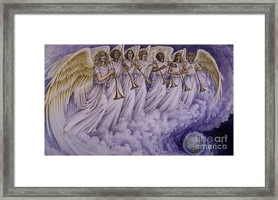 Cloud Of Seven Archangel Framed Print