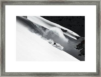 Cloud Of Snow Framed Print