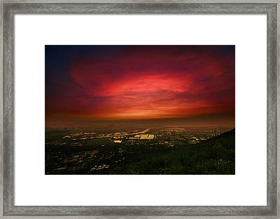 Framed Print featuring the photograph Cloud On Fire by Afrison Ma