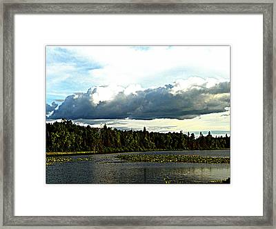 Cloud Over Lake Tomiko Framed Print by Dianne  Lacourciere