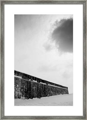 Cloud Over Quebec City Fortifications Framed Print by Arkady Kunysz