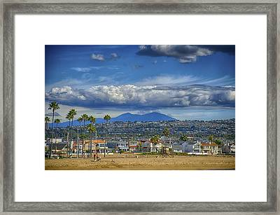 Cloud Over Saddleback Mountain Framed Print by Joseph Hollingsworth