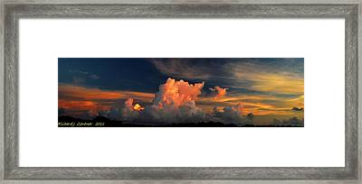 Framed Print featuring the photograph Cloud Panorama by Richard Zentner