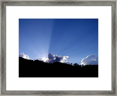 Framed Print featuring the photograph Cloud Rays by Craig T Burgwardt