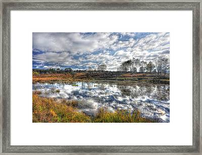 Cloud Reflections In Beaver Pond Canaan Valley Framed Print by Dan Friend