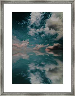 Framed Print featuring the photograph Cloud Reflections by John Stuart Webbstock