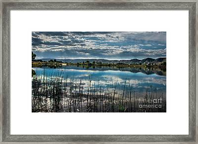Cloud Reflections Framed Print by Robert Bales