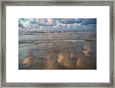Framed Print featuring the photograph Cloud Reflections by Sharon Jones