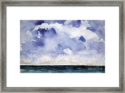 Cloud Regatta Framed Print