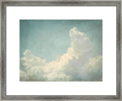 Cloud Series 4 Of 6 Framed Print by Brett Pfister