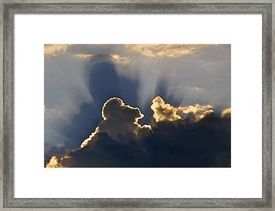 Framed Print featuring the photograph Cloud Shadows by Charlotte Schafer