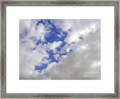 Cloud-shapes-2 Framed Print by Katerina Kostaki