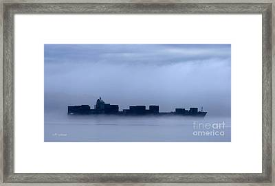Cloud Ship Framed Print by Tap On Photo