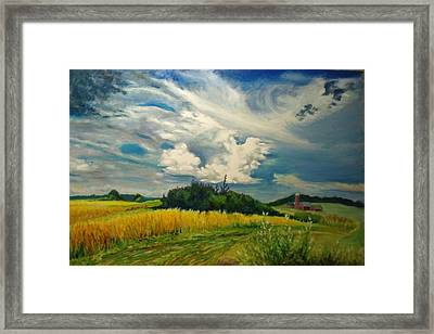 Cloud Short Visit Framed Print