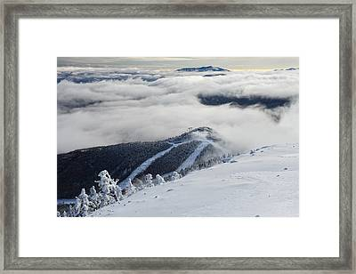 Cloud Splitter Framed Print by Bernard Chen