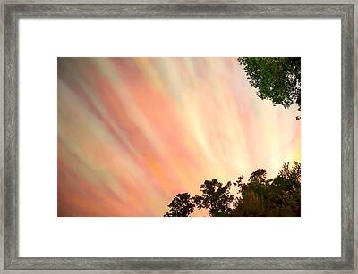 Framed Print featuring the photograph Cloud Streams by Charlotte Schafer
