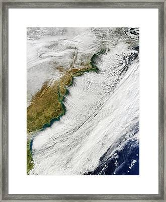 Cloud Streets Over Us East Coast Framed Print by Nasa