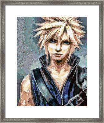 Cloud Strife Framed Print by Joe Misrasi