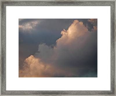 Framed Print featuring the photograph Cloud Study 2 by Laurie Stewart