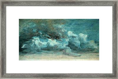 Cloud Study Cumulus Clouds, Lionel Constable Framed Print by Litz Collection