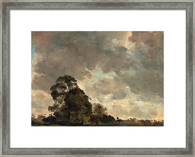 Cloud Study Landscape At Hampstead, Trees And Storm Clouds Framed Print