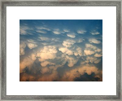 Cloud Texture Framed Print