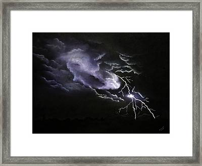 Cloud To Ground Framed Print