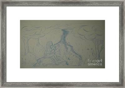 Cloud Tree Pond Framed Print by James Eye
