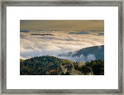Cloud Valley Framed Print by Serge Skiba