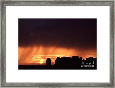 Cloudburst At Sunset Framed Print
