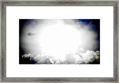 Cloudburst Sky Celestial Cloud Art Xl Resolution Framed Print