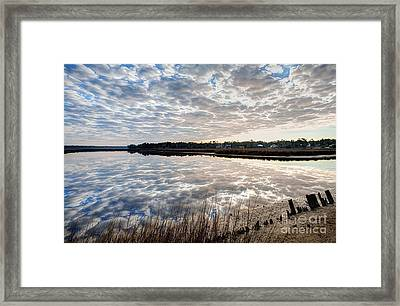 Clouded Reflection Framed Print by Joan McCool