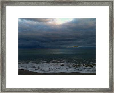 Clouded Window Framed Print