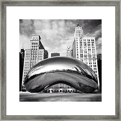 Chicago Bean Cloud Gate Photo Framed Print