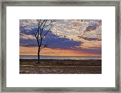 Clouding Up On Oyster Bay Framed Print