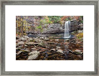 Cloudland Canyon Falls Framed Print by Scott Moore
