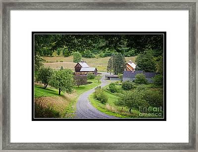 Cloudland Farm Woodstock Vermont Framed Print by Edward Fielding